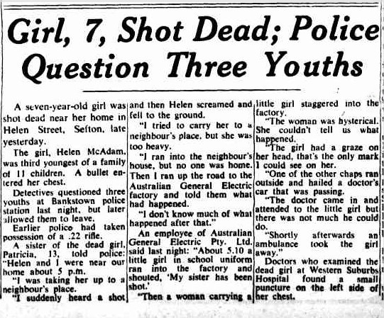girl shot  in  Sefton SMH Sep 28 1954